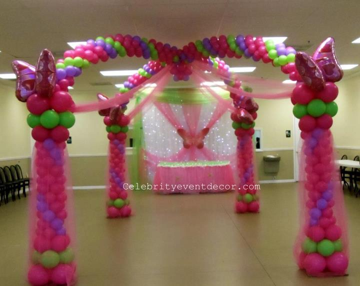 Celebrity event decor banquet hall llc august 2012 for Balloon arch decoration ideas