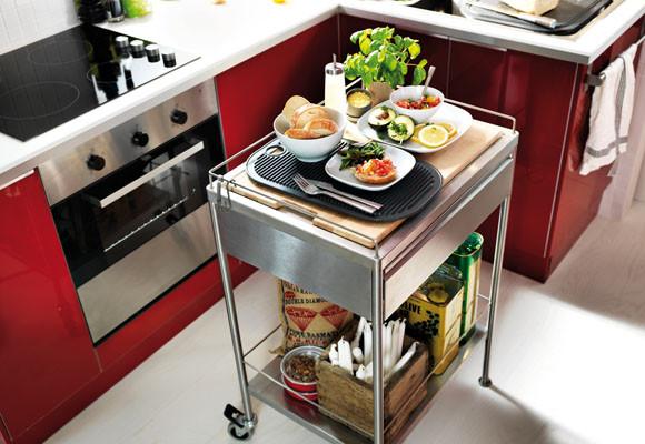 Mi rinc n de sue os carritos como mesa auxiliar en la cocina for Barra auxiliar para cocina