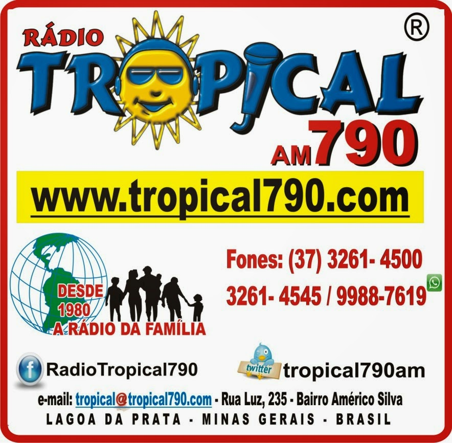 Rádio Tropical AM 790 de Lagoa da Prata