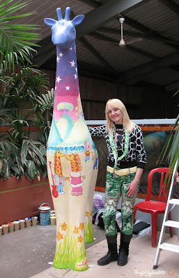 Stand Tall for Giraffes at Colchester Zoo - Ingrid Sylvestre North East Artist Giraffe Artist