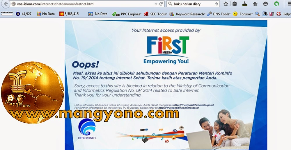 Situs Islam yang diblokir Kominfo diantaranya voa-islam.com