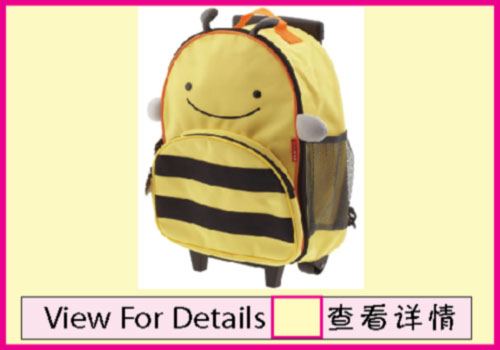 Skip Hop Bee Rolling Luggage Kids rolling luggage
