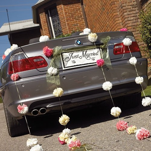 Wedding car decorations have your dream wedding for Just married dekoration