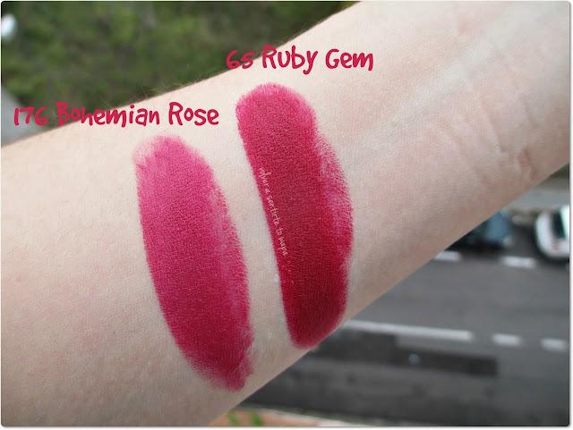 Labiales Borgoñas de Isadora - 176 Bohemian Rose y 65 Ruby Gem
