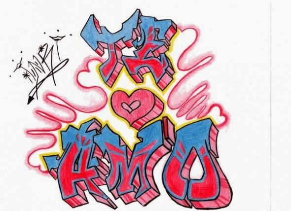 Dibujos de amor de graffitis - Imagui