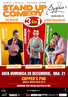 Stand-Up Comedy, Magie si Ventrilocie duminica 20 decembrie bucuresti