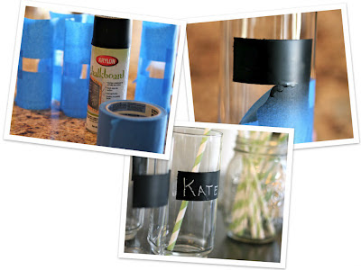 decorar vasos con pizarra