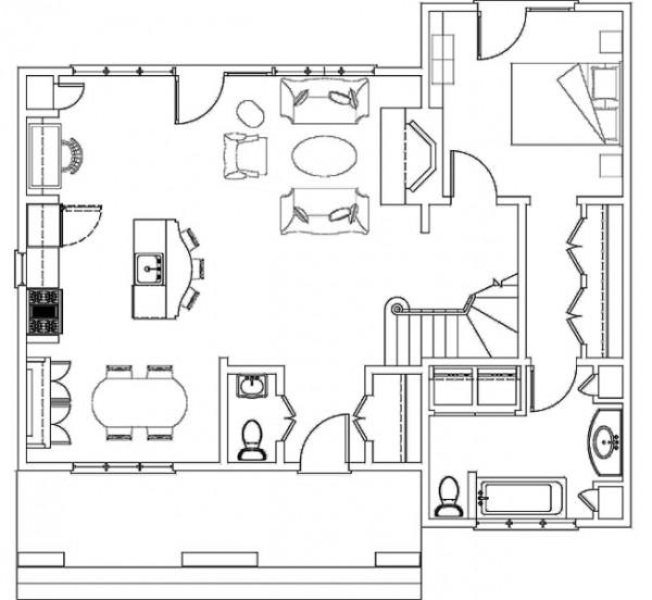 Decoraciones y modernidades plano de hogar de dos pisos for Presupuesto pintar piso 80 metros