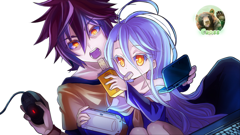 Render Sora y Shiro + No Game No Life
