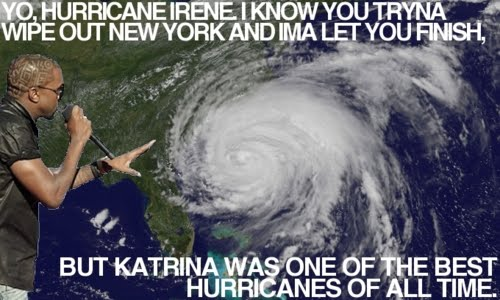 Kanye West Gives Comment About Hurricane Irene 2011
