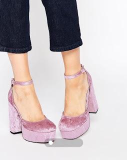 Asos Pablo heels in dusky pink velvet