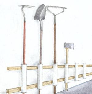 Ashbee design may 2012 it is a sketch from living the country life the suggestion is to use 12 lengths of pvc pipe to create a tool holder solutioingenieria