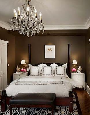 foto habitación elegante chocolate - blanco