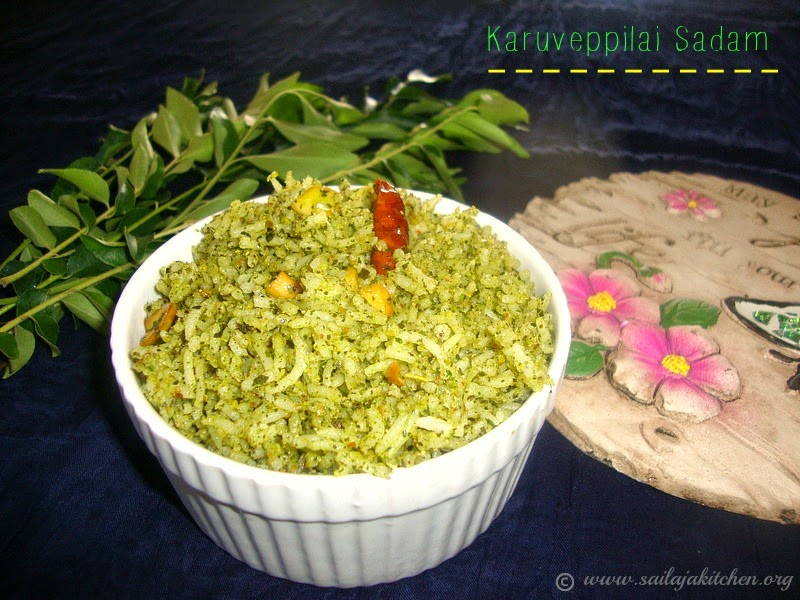 images for Curry Leaves Rice / Kariveppilai Rice / Karuveppilai Sadam Recipe / Karivepaku Annam Recipe