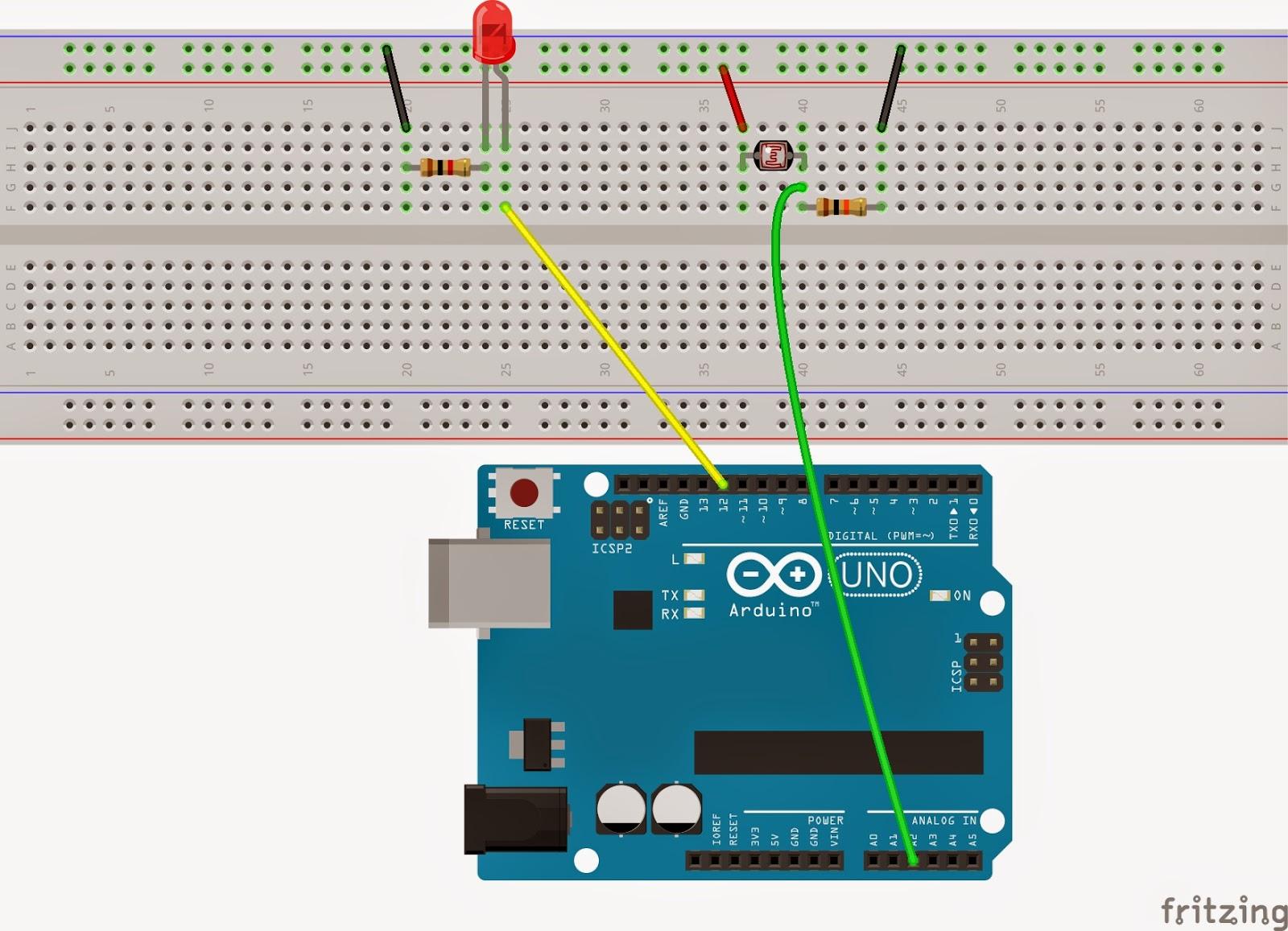 Arduino ldr İle karanlıkta yanan işık devresi elektrik