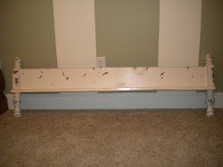 antique footboard shelf...SOLD
