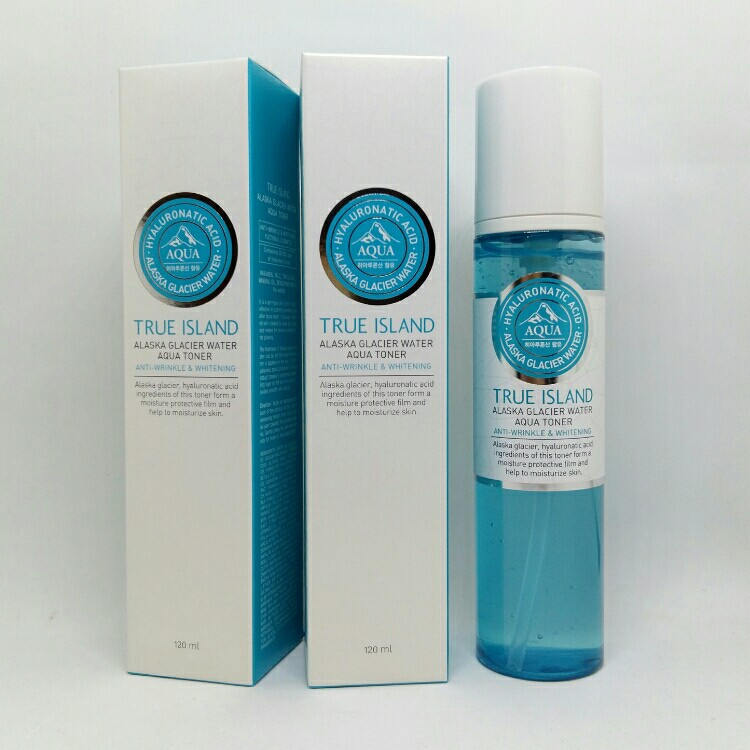 TRUE ISLAND ALASKA GRACIER WATER AQUA TONER (120ML) .