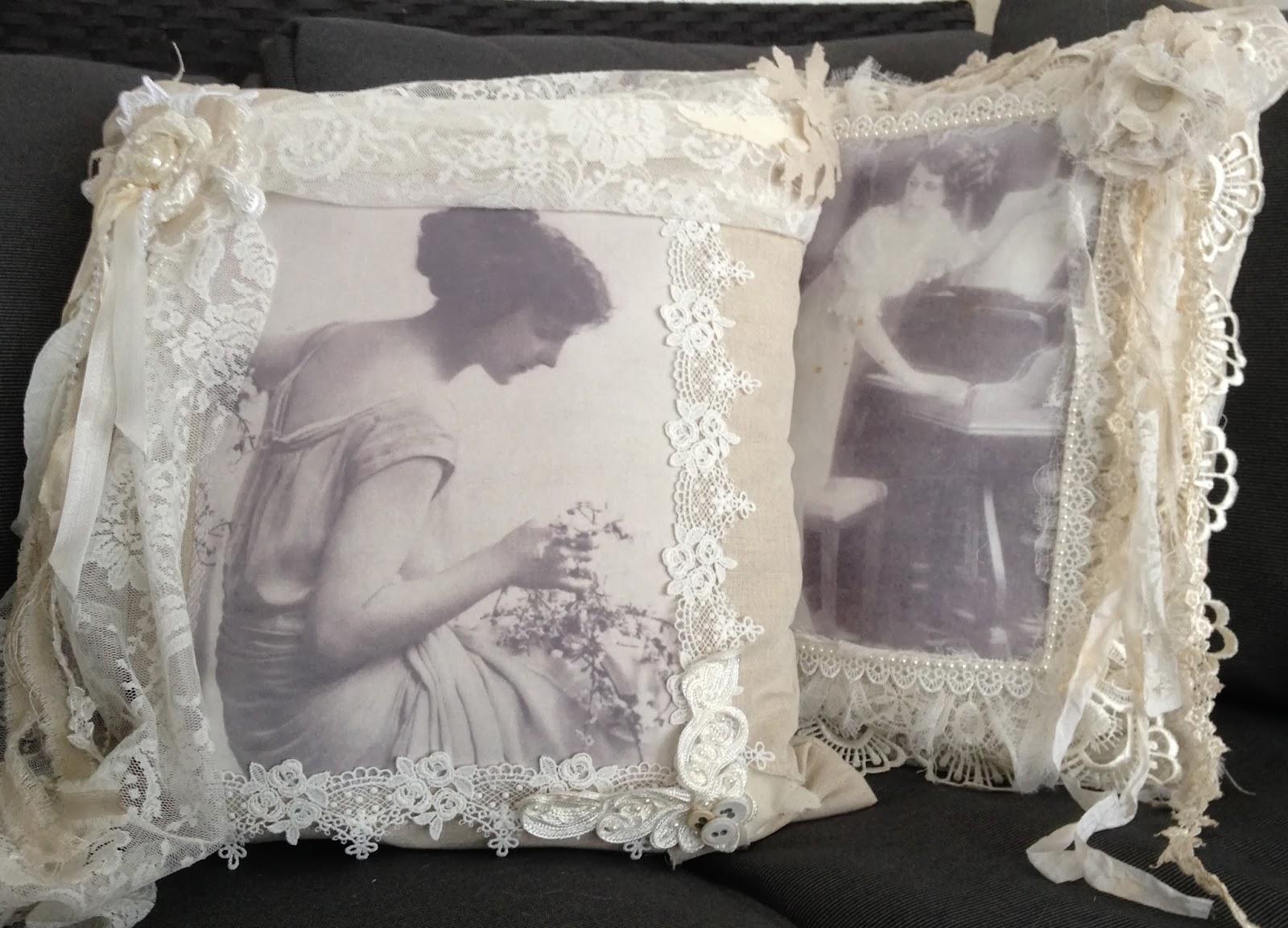 kissenh bel pillow in set rosen pin shabby llen handarbeit neu pillows chic m