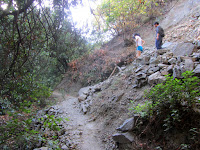 New switchback on Fish Canyon Trail, Angeles National Forest