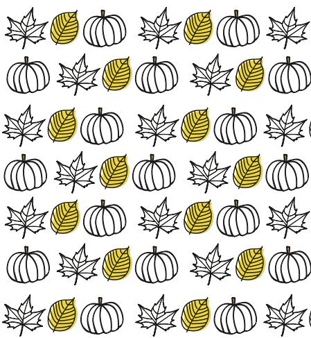 papel decorardo hojas y calabazas para imprimir