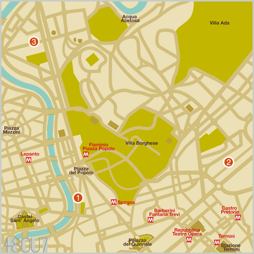ROME MUSEUMS - map