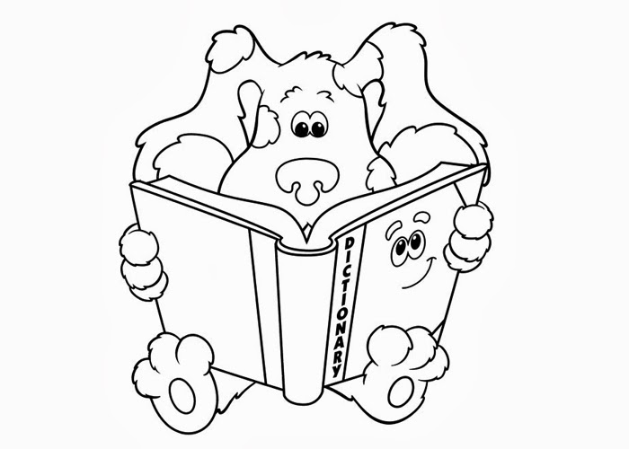Blues Clues Dictionary Coloring Pages