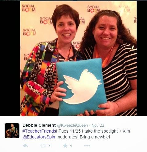 Talking TWITTER at SocialBoom! Debbie Clement + Kim Vij