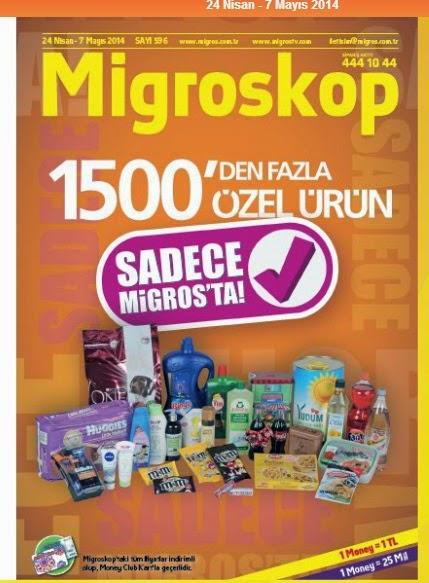 Migroskop Dijital 24 Nisan - 7 Mayıs 2014 Güncel Broşür,İndirim Katalog Yatınlandı Türkiye genelinde en yaygın   Migros, 24 Nisan – 7 Mayıs tarihleri arasında geçerli olacak indirim dergisi olan mıgroskopu yayınladı