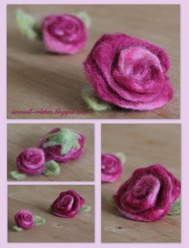 gefilzte Rosen Nr. 2