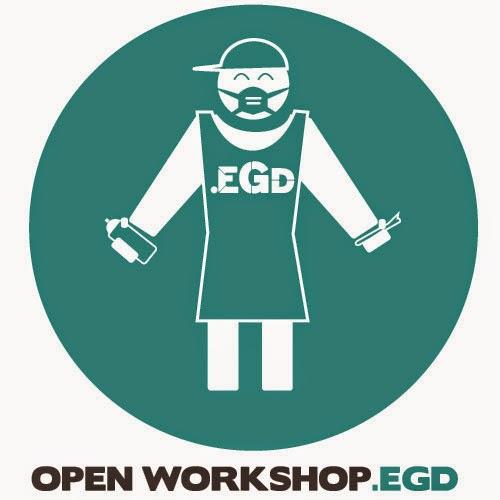 25 januari 2015: OPEN stancil Art / Graffiti Workshop.EGD