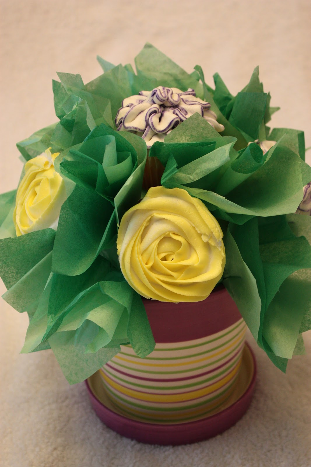 Sweet On You-Designer Cups & Cakes: Cupcake Bouquet