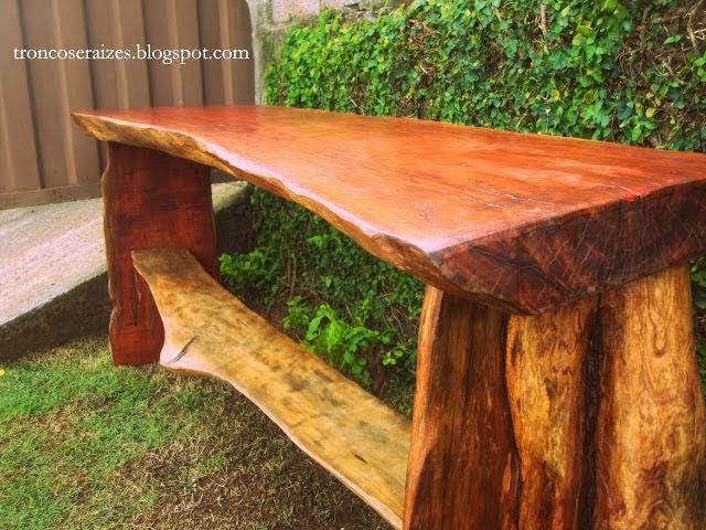 Aparador Redondo De Ferro ~ Troncos e raizes Aparadores e bancadas de madeira reciclada