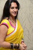 Surekha Vani Yellow Saree Hot photos at Yevadu movie Press Meet12