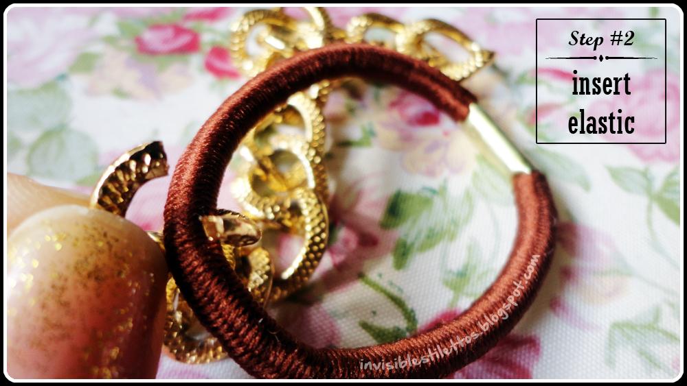 Gold Chain Elastic Bracelet