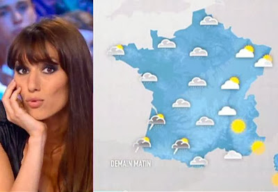 The temperatures rising! French weather girls naked