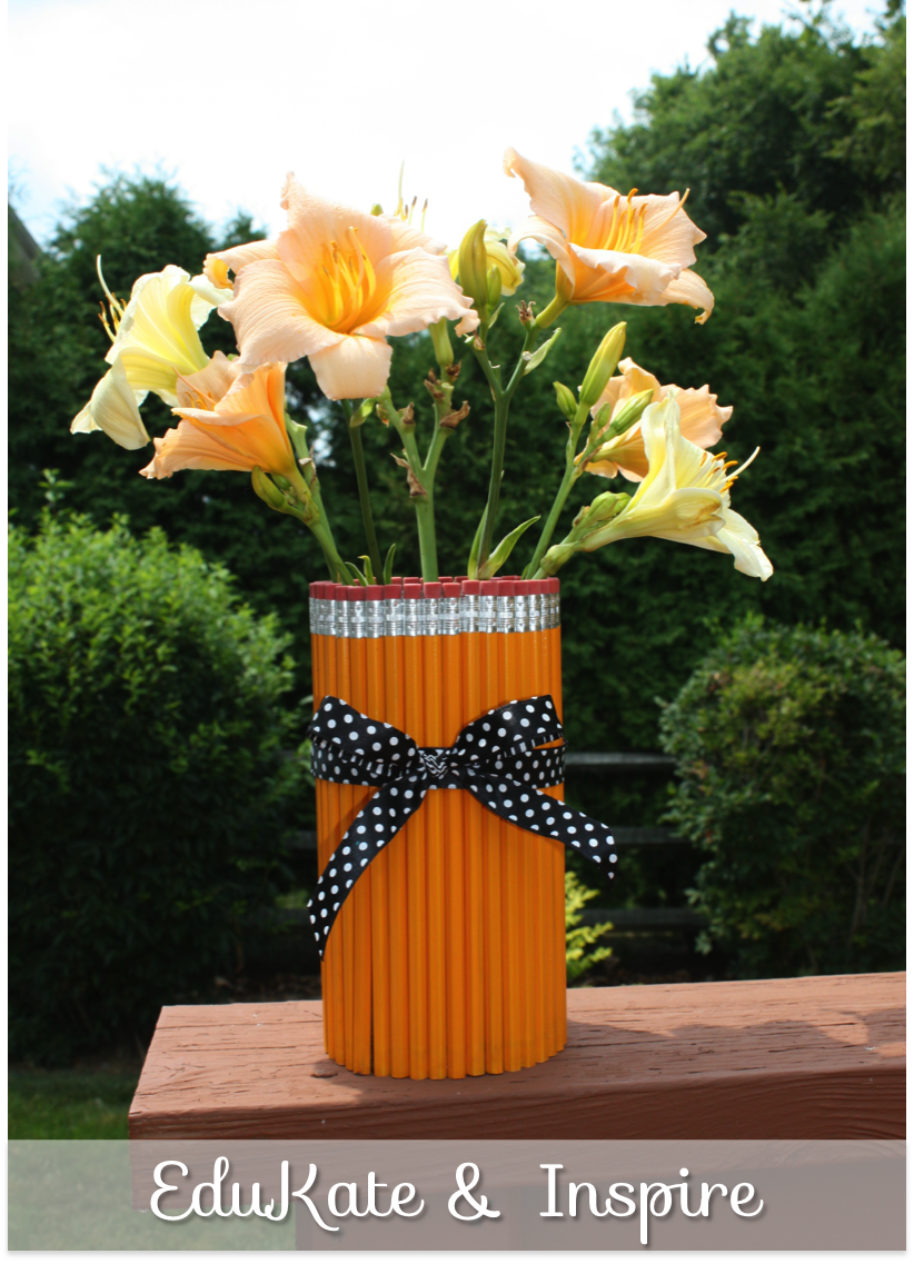 EduKate and Inspire: Create a pencil vase for your classroom!
