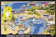 new zealand postcard. Wellington and Kapiti coast of New zealand.