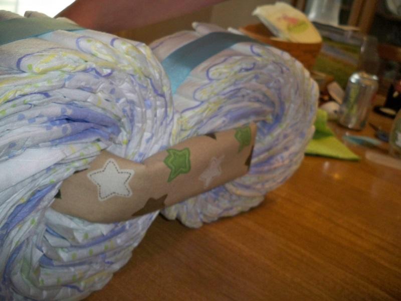 Greenkids Boutique Motorcycle Diaper Cake Tutorial