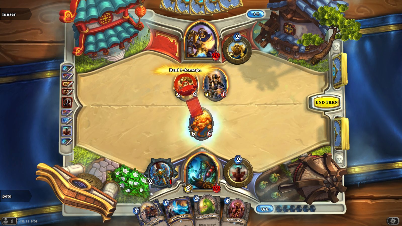Magical Notes: Hearthstone Arena Walkthrough: Shaman - game 2