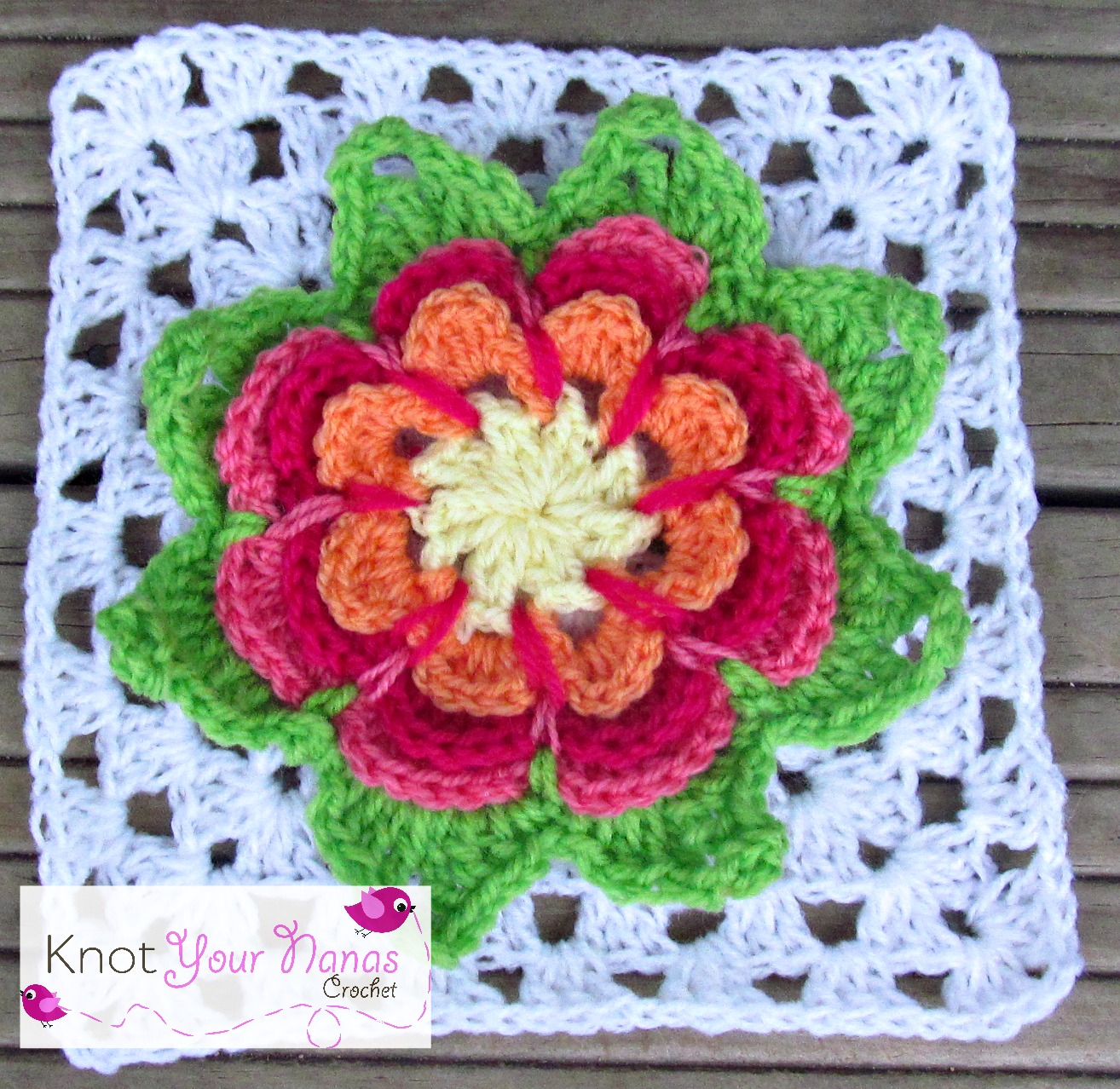 Knot Your Nana's Crochet: Granny Square Crochet Along Revisited (Week ...