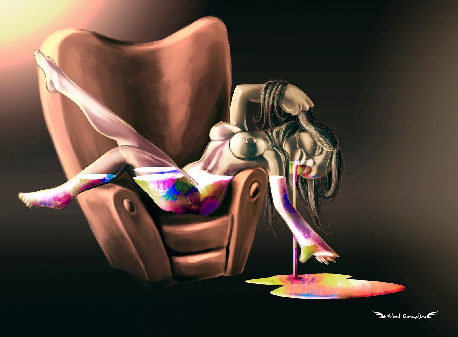 Arte Transbordante - Pin Up Digital Illustration - Michel Ramalho