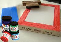 ... afdruk screen film sablon manual desain kaos proses sablon kaos