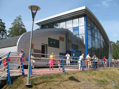 Казанская детская железная дорога, здание станция Изумрудная
