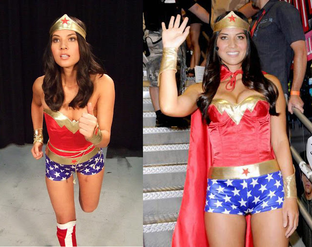 More sexy pictures of Olivia Munn in Wonder Woman costume