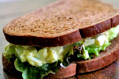 Egg salad sandwiches recipes dishmaps for Tuna and egg sandwich