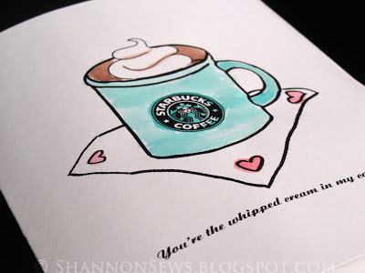 Easy watercolor painting - starbucks mug painting with watercolor paints made from washable markers