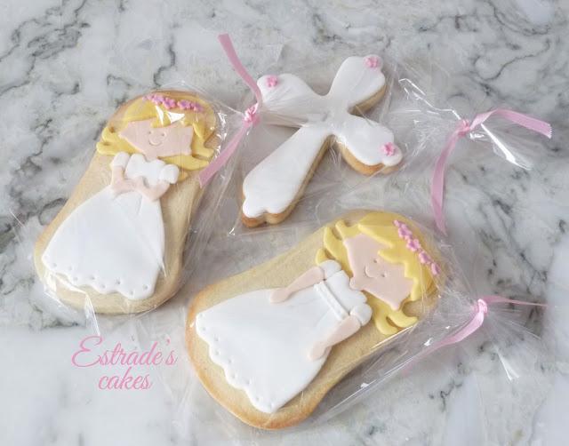 galletas de niña de Comunión rubia 5