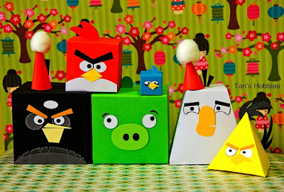 Angry Bird Team Paper Craft ~ Tan's Hobbies