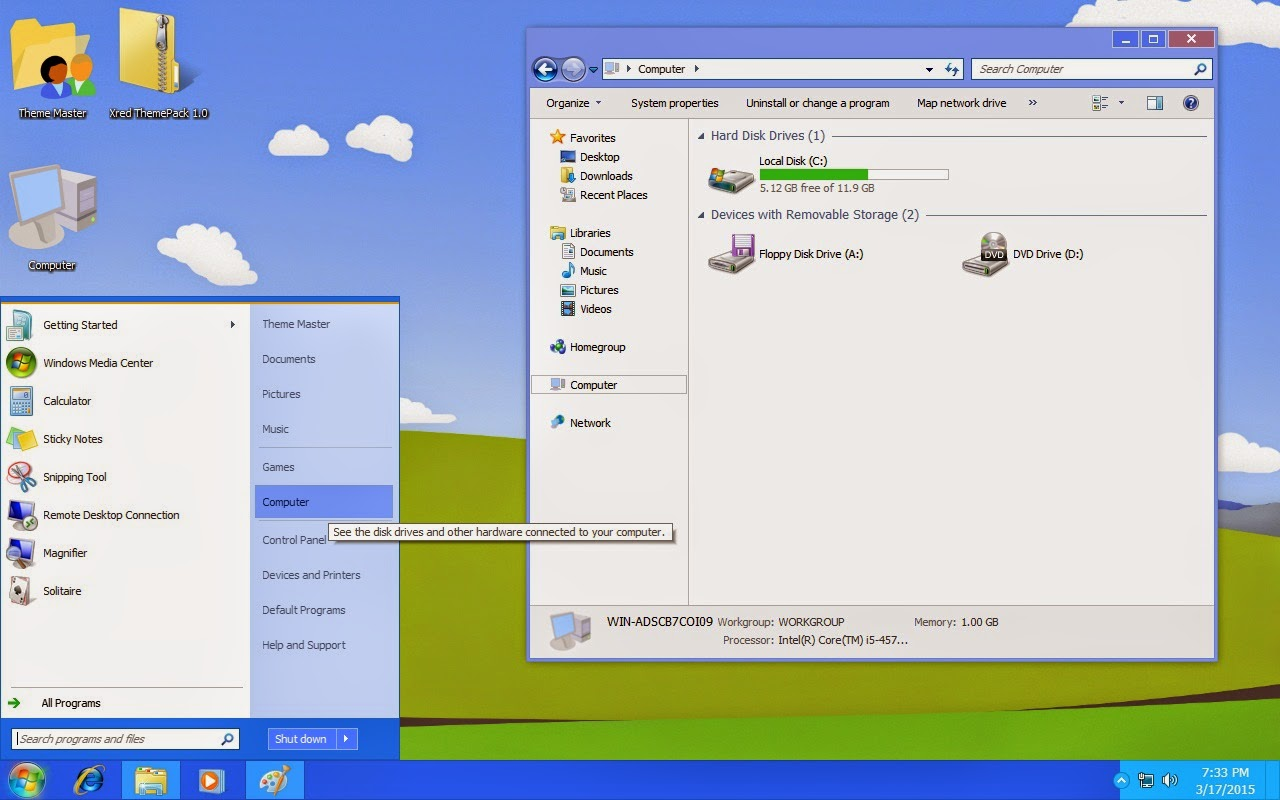 How to use Windows XP theme on my Ultrabook