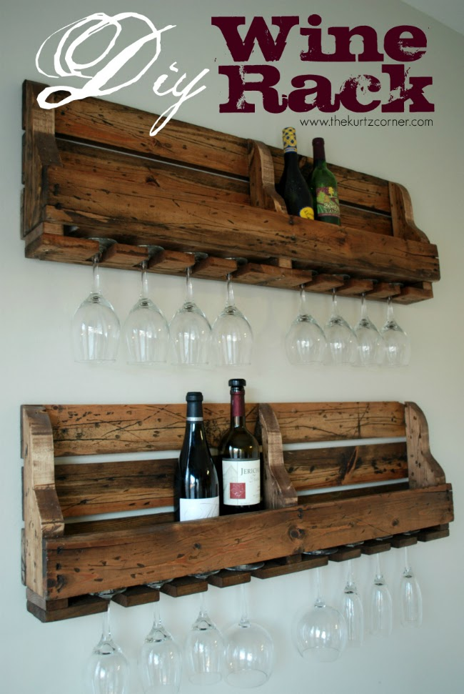 the kurtz corner diy rustic wine rack